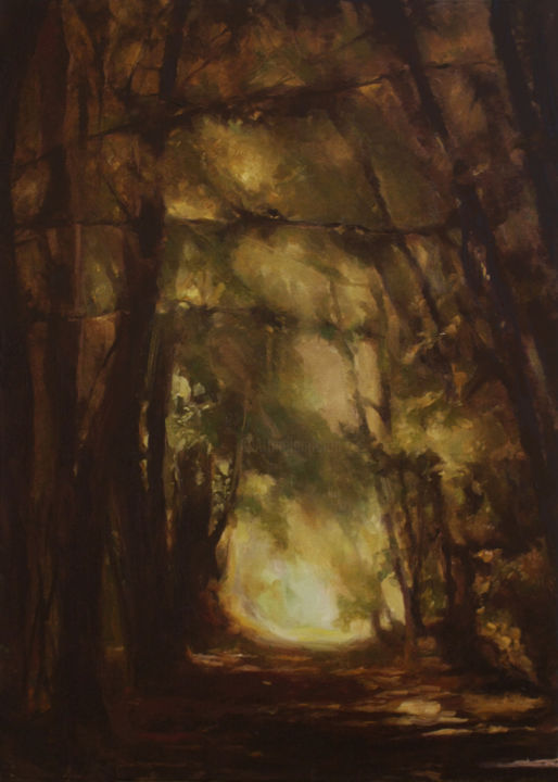 """Painting titled """"New day approaching"""" by Daria Kucharczyk, Original Art, Oil"""