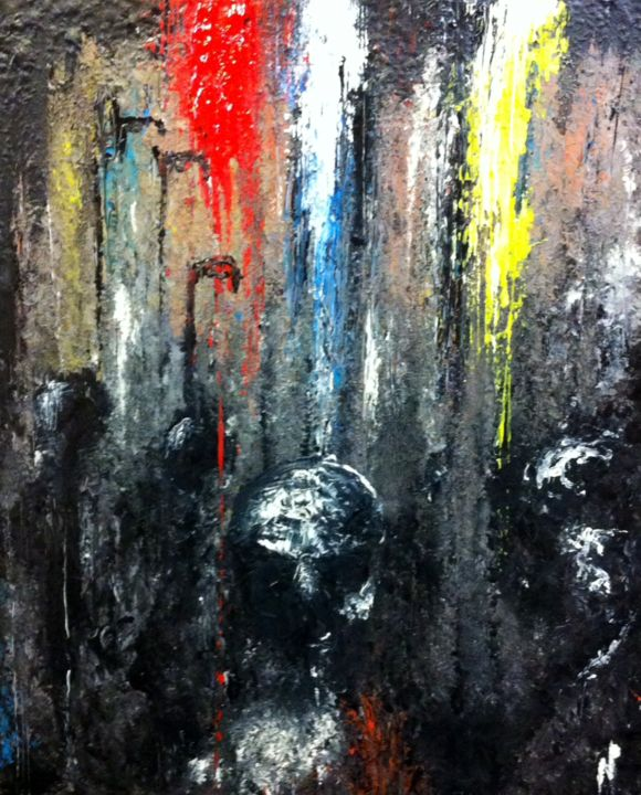 """Painting titled """"""""Muddied Pit and Pa…"""" by Niall Parkinson, Original Art,"""