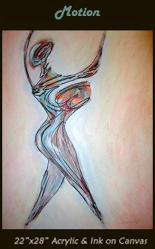 """Painting titled """"Motion"""" by Daryl Deland, Original Art,"""