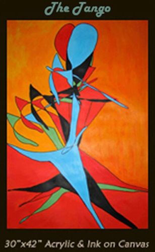 """Painting titled """"The Tango"""" by Daryl Deland, Original Art,"""