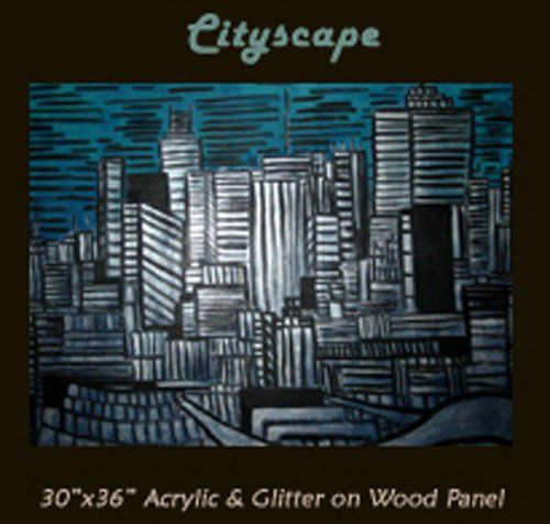 Cityscape - Painting,  30x36 in, ©2007 by Daryl Deland -