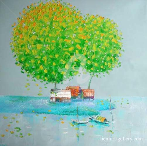"""Painting titled """"dattq3-51"""" by Dat Tran Quoc, Original Art,"""
