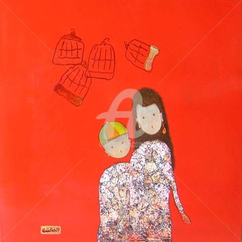"""Painting titled """"dattq1-17"""" by Dat Tran Quoc, Original Art,"""