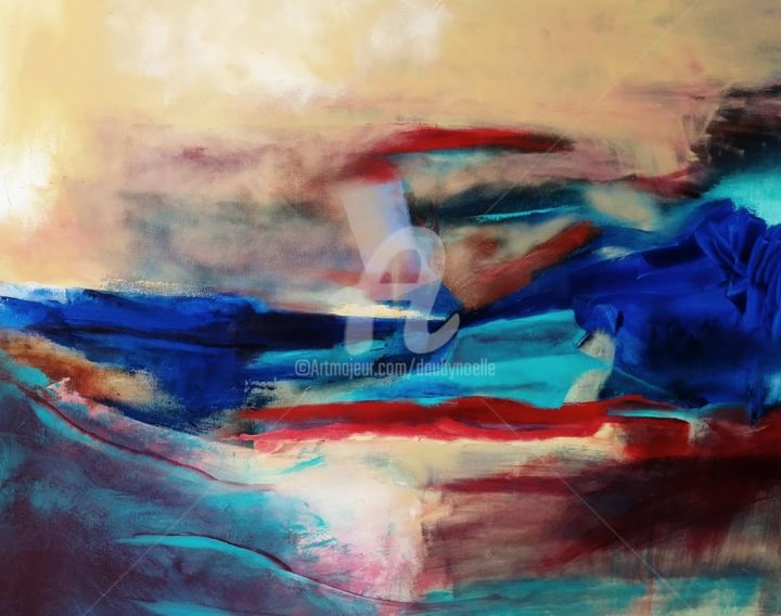 tumulte - Painting,  70x90 cm ©2017 by Noëlle Dauby -                                                        Abstract Art, Canvas, Places