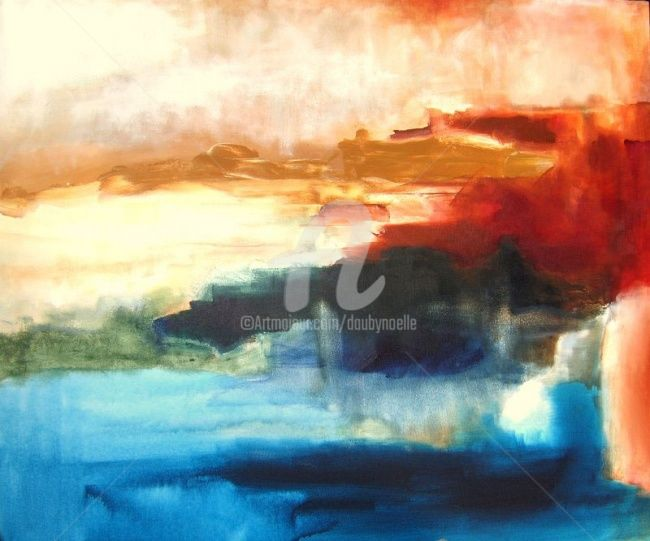 paysage ocre - Painting ©2008 by Noëlle Dauby -                        Expressionism