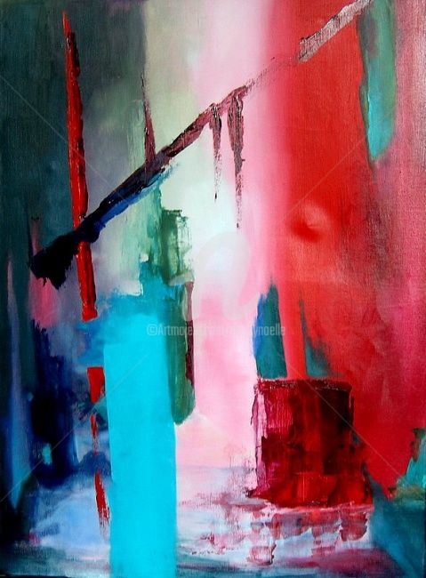 186 - Painting,  31.5x23.6 in, ©2008 by Noëlle Dauby -