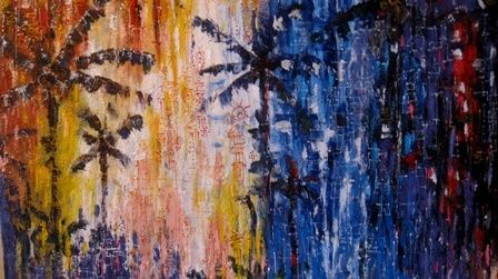 forest old age II - Painting,  19x30x0.4 in, ©2011 by Davidmomodu -