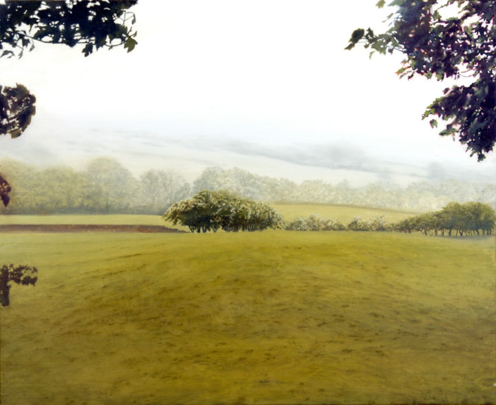"""Painting titled """"Skiddaw Lowlands"""" by David Dodsworth, Original Art, Oil Mounted on Stretcher frame"""