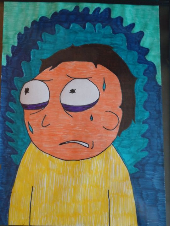 """Drawing titled """"Stressed out morty"""" by D.Ad, Original Art, Marker"""