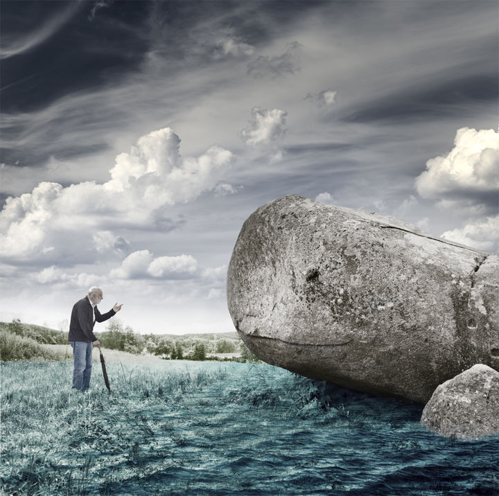 """Photography titled """"Old Man and the Wha…"""" by David Heger, Original Art, Manipulated Photography"""