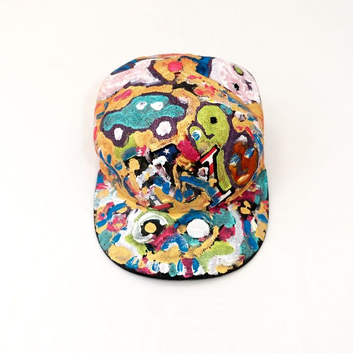 Casquette customisee . - Painting, ©2019 by David Maheo -