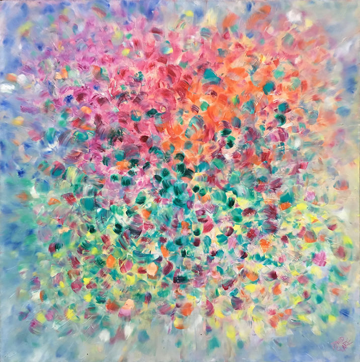 """Painting titled """"Floral Focus"""" by David Clare, Original Art, Oil"""