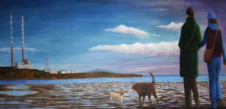"""Painting titled """"Sandymount Strand"""" by David Donnelly, Original Art, Acrylic"""