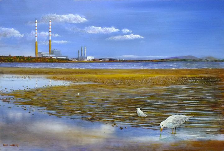 """Painting titled """"Sandymount Strand,…"""" by David Donnelly, Original Art, Acrylic"""