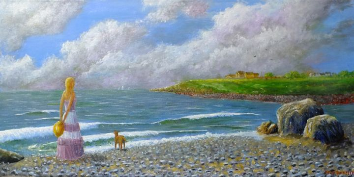 """Painting titled """"back-strand.jpg"""" by David Donnelly, Original Art, Acrylic"""