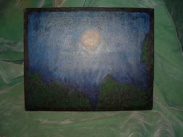 """Painting titled """"nightime through a…"""" by David Edwards, Original Art,"""