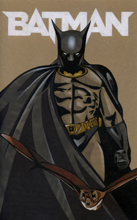 The Batman Dibujo Por David Herbouiller Artmajeur