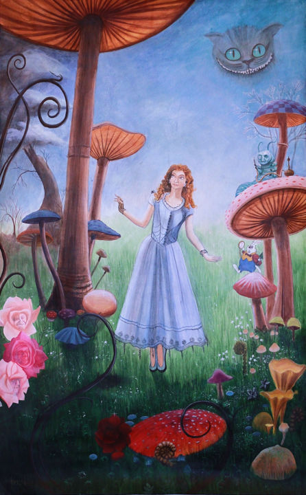 alice-sj.jpg - Painting, ©2014 by David Peyrou -
