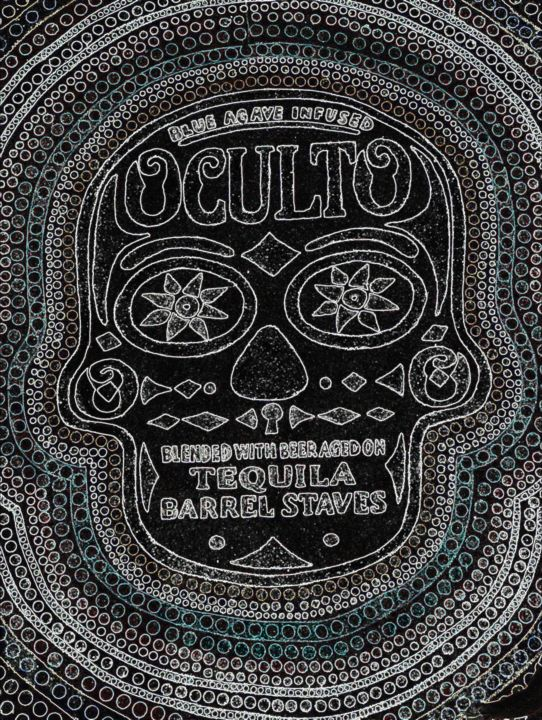 The Mexican skull - Painting ©2016 by davidrubianes2011 -