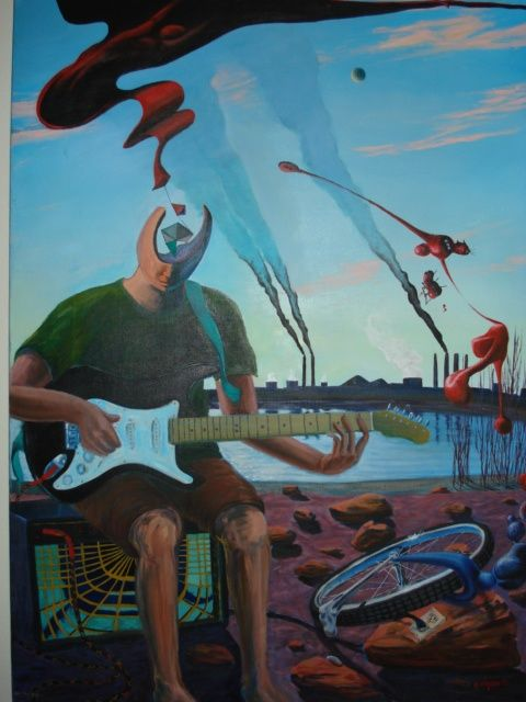 """Painting titled """"smokestack song"""" by Burntsun, Original Art, Oil"""
