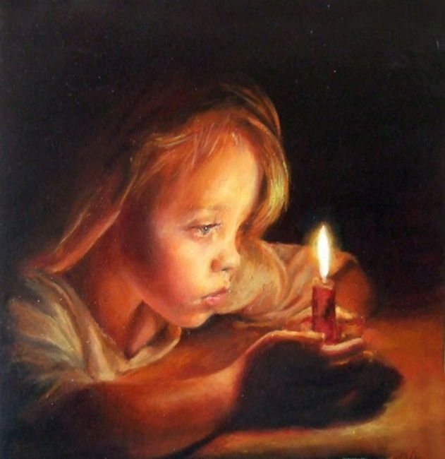 A LUME DI CANDELA - Painting, ©2011 by Calidè -