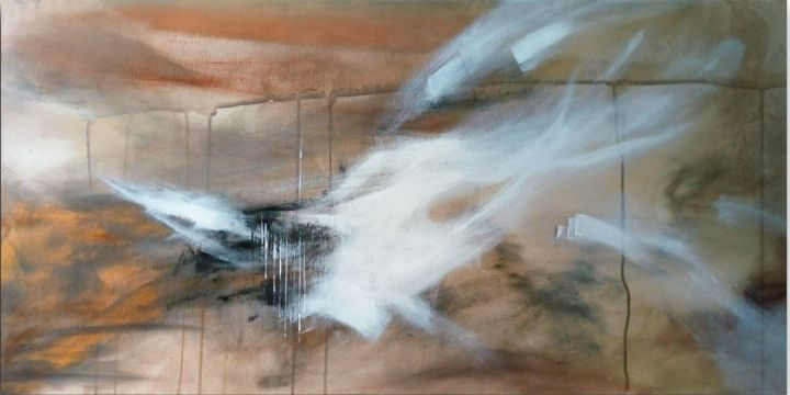 """Painting titled """"Escape from the cage"""" by Monica Di Bartolo, Original Art, Acrylic"""
