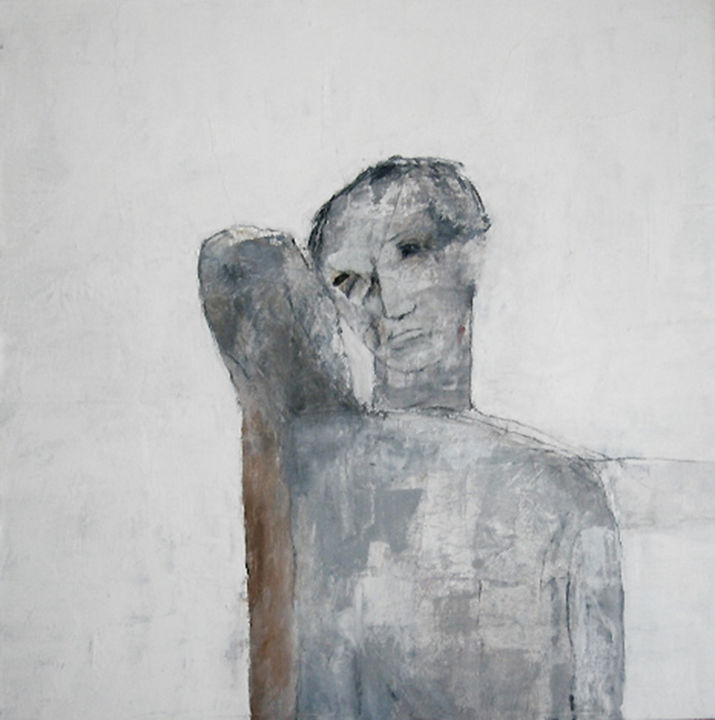 personnage - Painting,  29.3x29.3 in, ©2008 by Valérie Décoret -