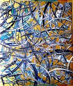 """Painting titled """" 6th dimention"""" by Yucel Donmez, Original Art,"""