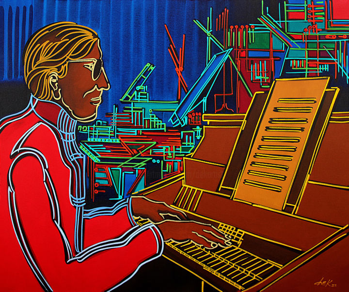 """Painting titled """"the pianist in the…"""" by Dek, Original Art, Acrylic"""