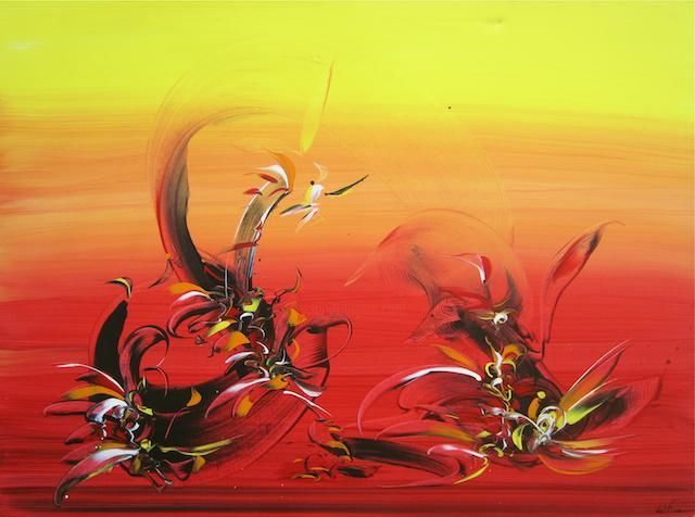 """Painting titled """"Flamenco"""" by Fine A. Del, Original Art,"""