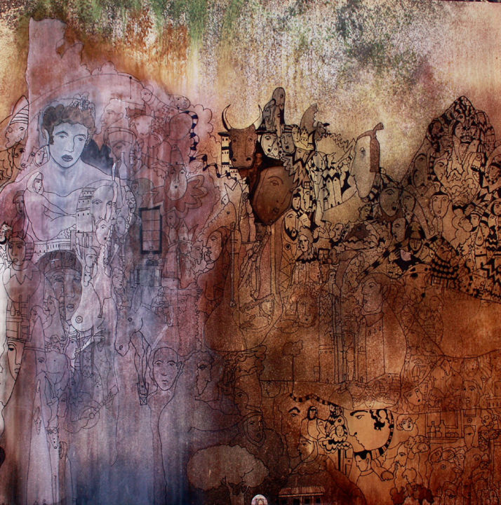 Painting, ink, artwork by Juan Del Balso