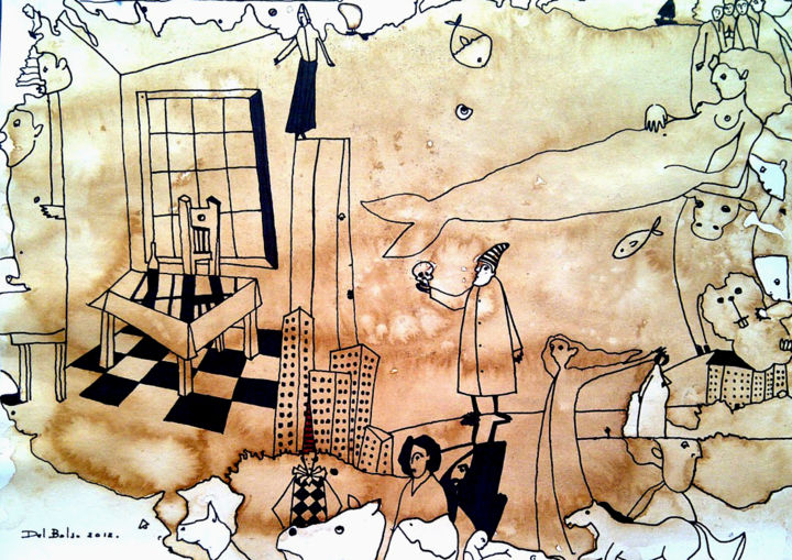 """Drawing titled """"Imagine 8"""" by Juan Del Balso, Original Art, Other"""