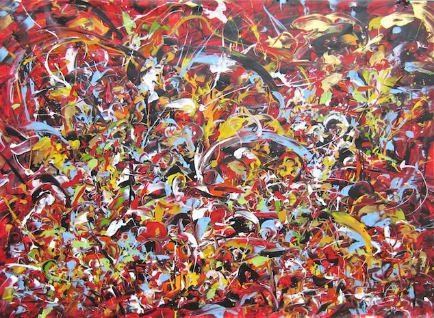 """Painting titled """"In The City 2"""" by Delphine Bernard, Original Art, Oil"""
