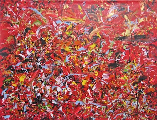 """Painting titled """"In The City 3"""" by Delphine Bernard, Original Art, Oil"""