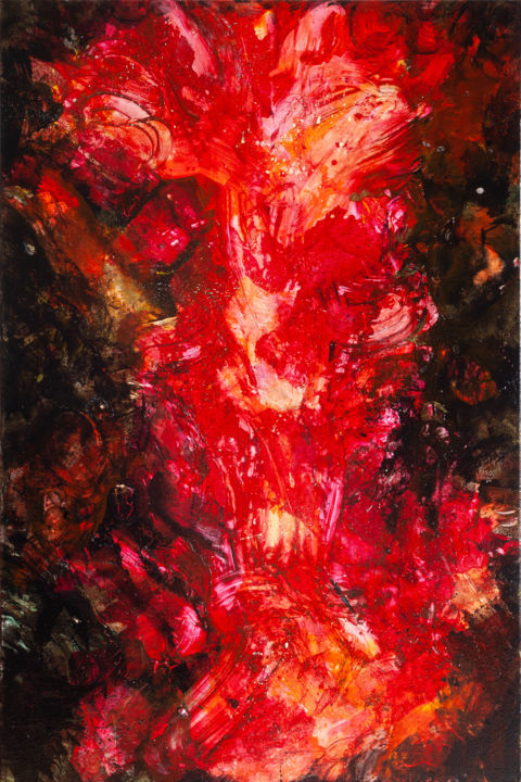 """Painting titled """"""""Ether"""""""" by Dement.Raa, Original Art, Acrylic"""