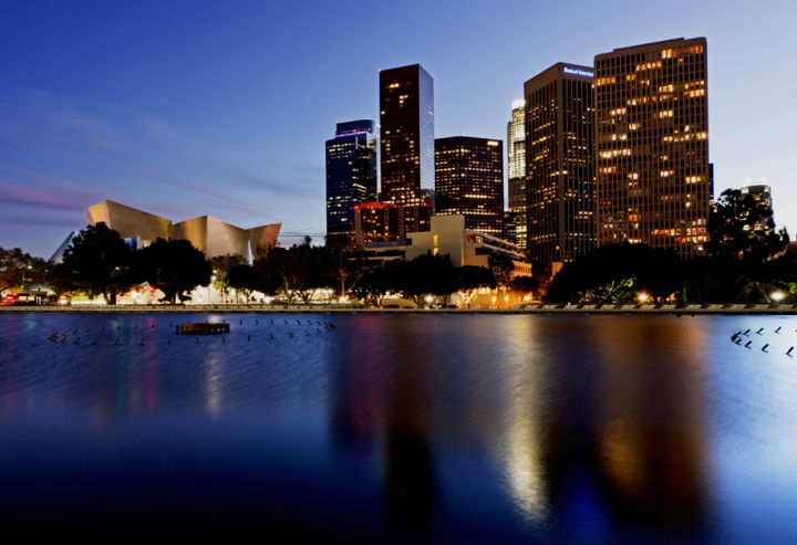 """Photography titled """"Downtown Los Angeles"""" by Demirel, Original Art, Digital Photography"""