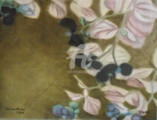 negative flouers - Painting,  11.8x15.8 in, ©2012 by Denisa Paho -                                                                                                                                                                                                                                                                                                                                                                                  oil, canvas, painting, impressionism, contemporary ELECT artist_sold, artist_sold_force, artist_cur, artist_price FROM artmajeur .artists