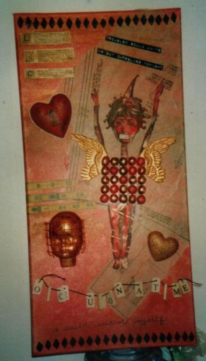 """Collages titled """"Troubled Souls Unite"""" by Denise, Original Art,"""