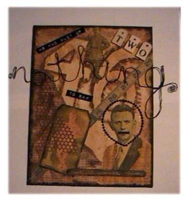 """Collages titled """"he had a lot to say"""" by Denise, Original Art,"""