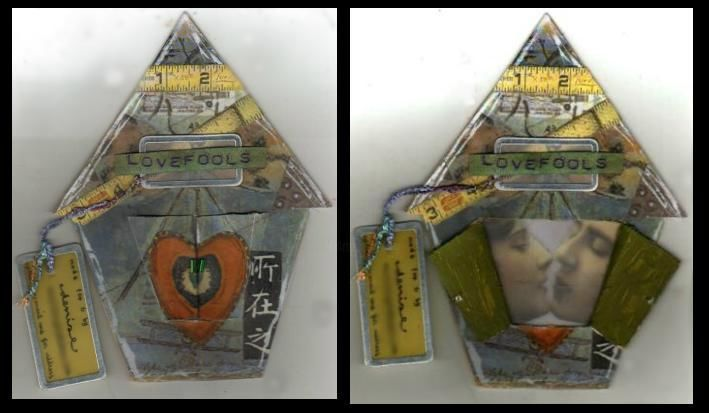"""Collages titled """"lovefools"""" by Denise, Original Art,"""