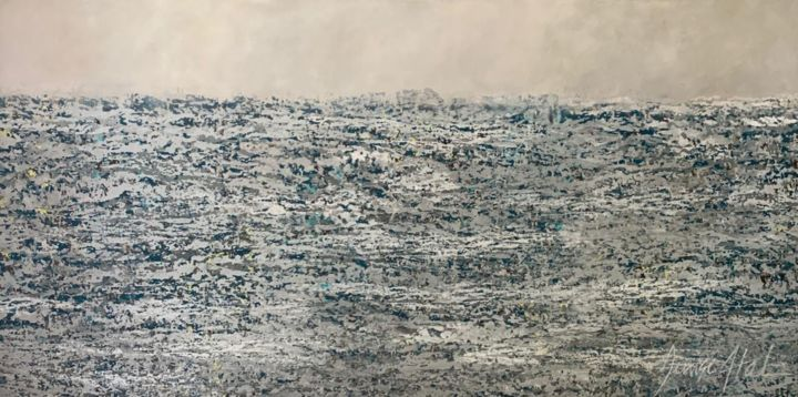 """Painting titled """"MAR DE INVIERNO"""" by Denise Atal, Original Art, Acrylic"""