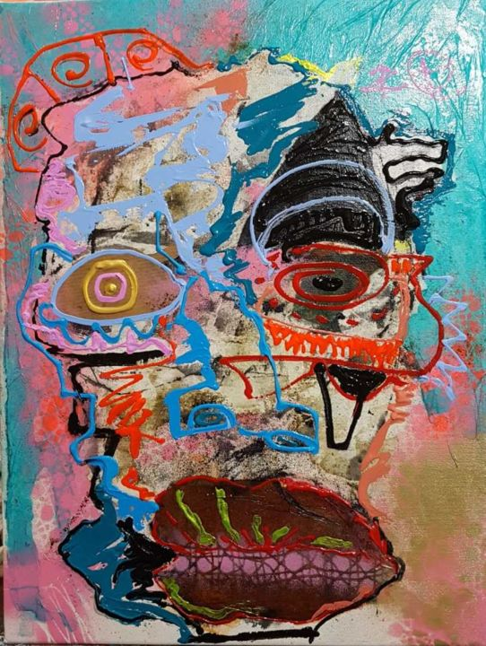 """Painting titled """"sin titulo"""" by Dennys Santos, Original Art, Collages"""