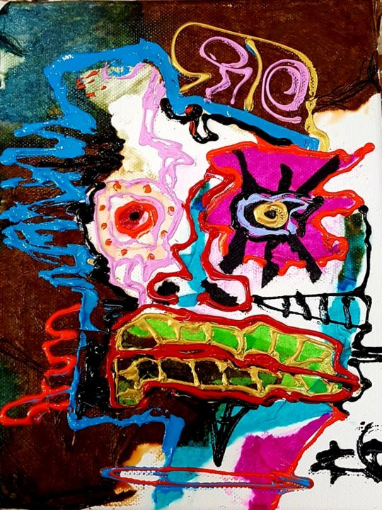 """Painting titled """"sin titulo 1"""" by Dennys Santos, Original Art, Collages"""