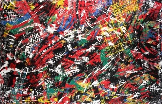 Oo° - Painting,  100x150 cm ©2012 by DePPyOu -                        Abstract Art