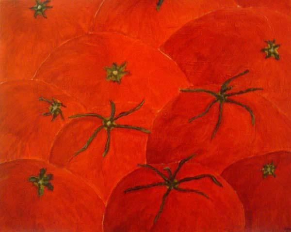 TOMATO TOMATOES - Painting,  92x73 cm ©2003 by Derrey -