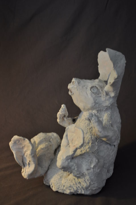 le Lapin d'Alice - Sculpture ©2015 by Derrey -