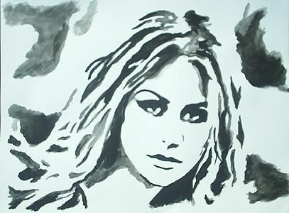 """Painting titled """"Chasey"""" by Des Colburn, Original Art,"""