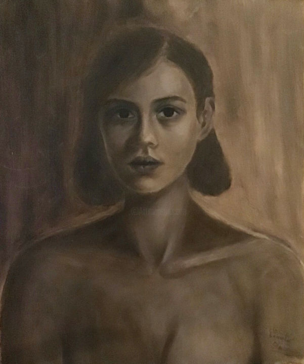 """Painting titled """"Classic beauty"""" by Despoina Kantere, Original Art, Oil"""