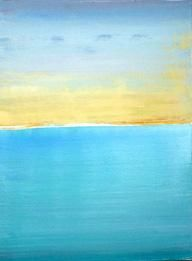 Acrylic Sunset - Painting,  24x18 in, ©2000 by Devin Moore -