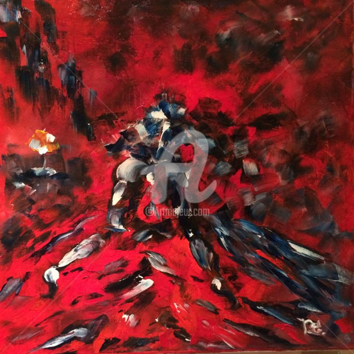 """Painting titled """"Abstraction"""" by Dganna, Original Art, Oil"""